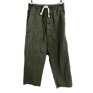 Zara Man Harem Crop Pants Drop Crotch Button Fly